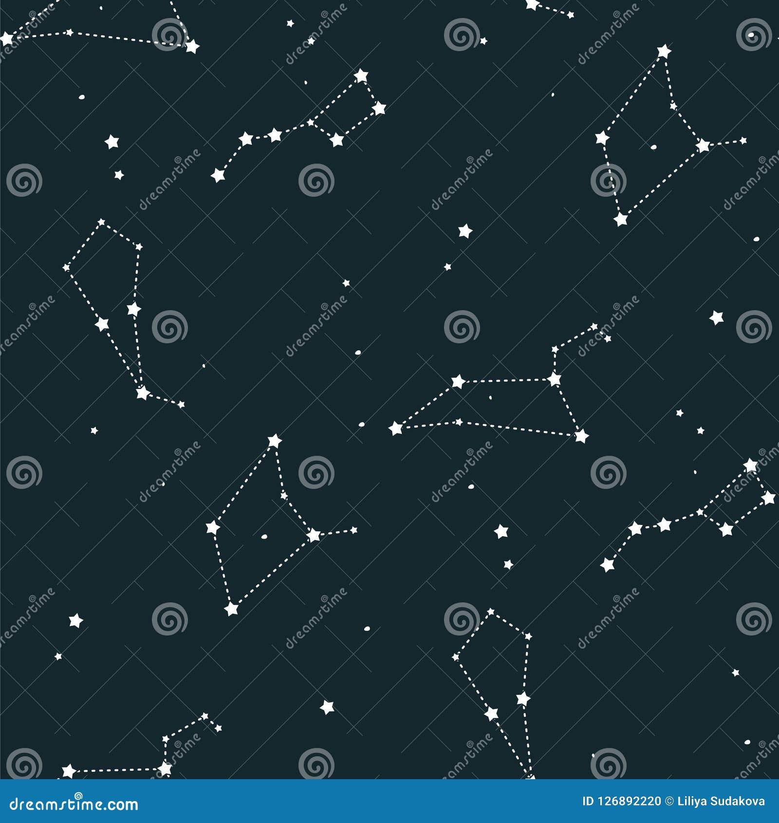 O Teste Padrao Sem Emenda Do Vetor Da Constelacao Do Fundo