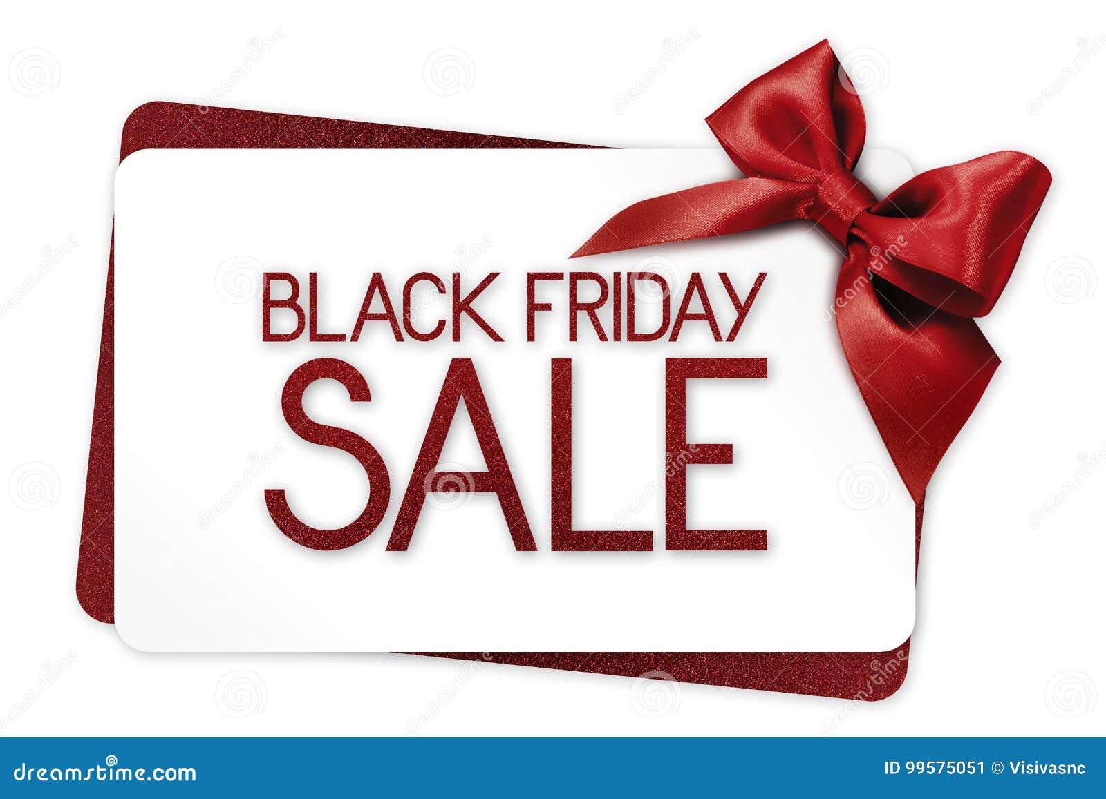 b7e7ea9fc O texto da venda de Black Friday escreve no vale-oferta branco com curva  vermelha da fita