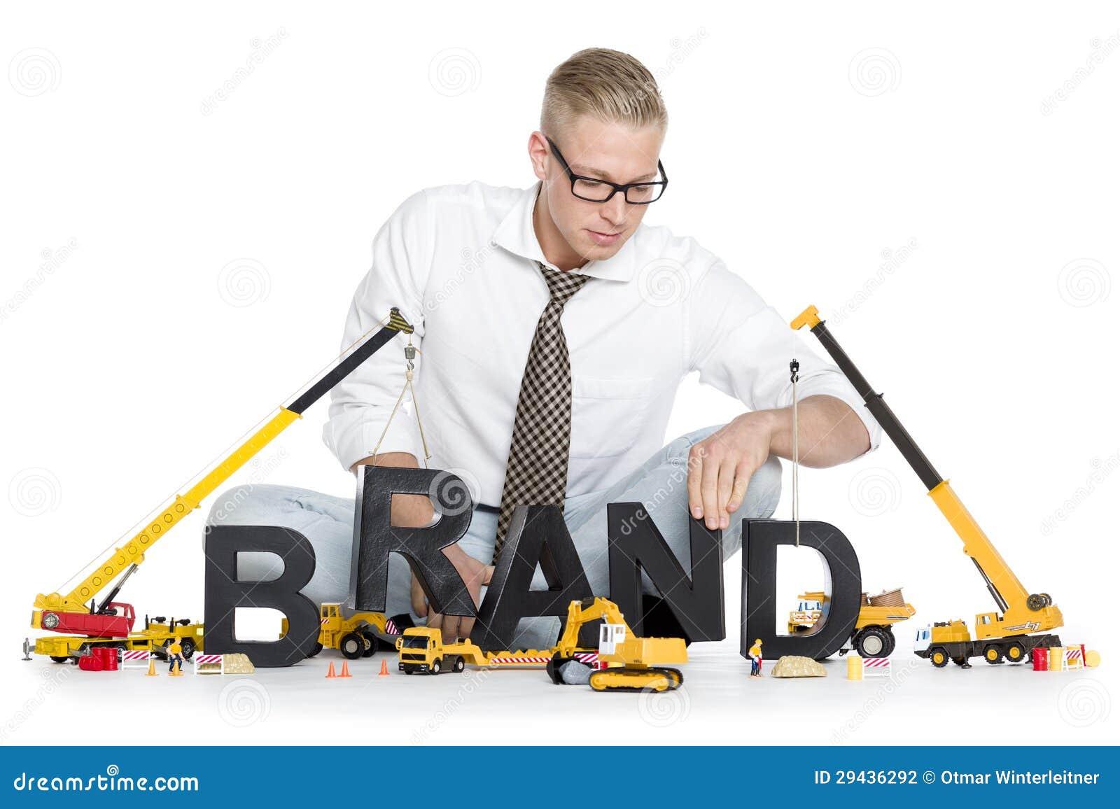 O tipo começa acima: Tipo-palavra da construção do homem de negócios.