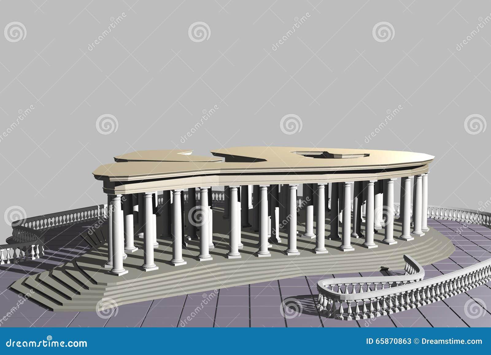 O tipo da estrutura do pavilhão 2-02