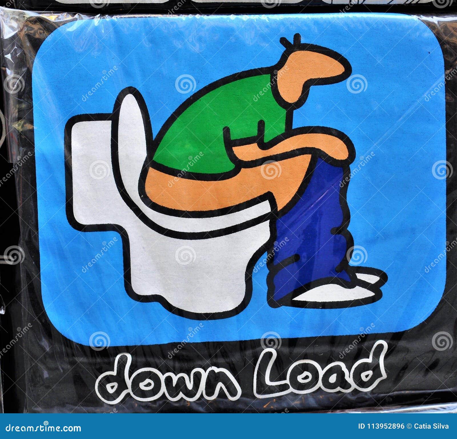 O toalete a transferência