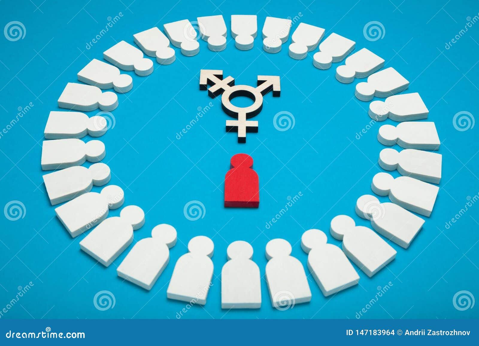 O Transgender consegue o fundo, determina??o Diversidade do g?nero, identidade bissexual androgyn
