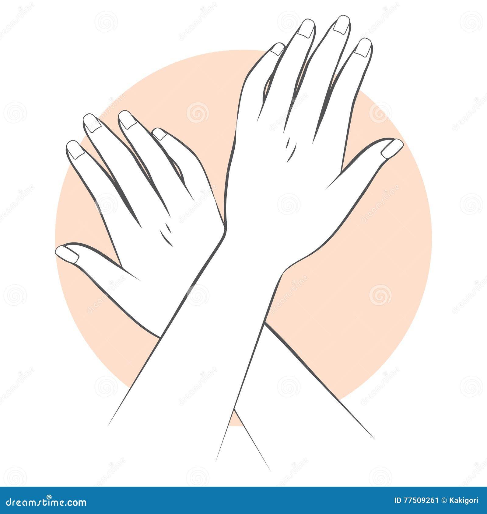 O tratamento de mãos entrega o cuidado