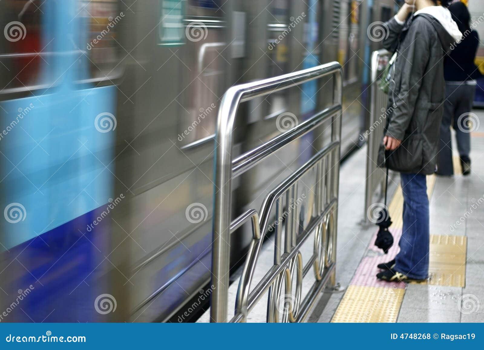 O trem está aproximando-se