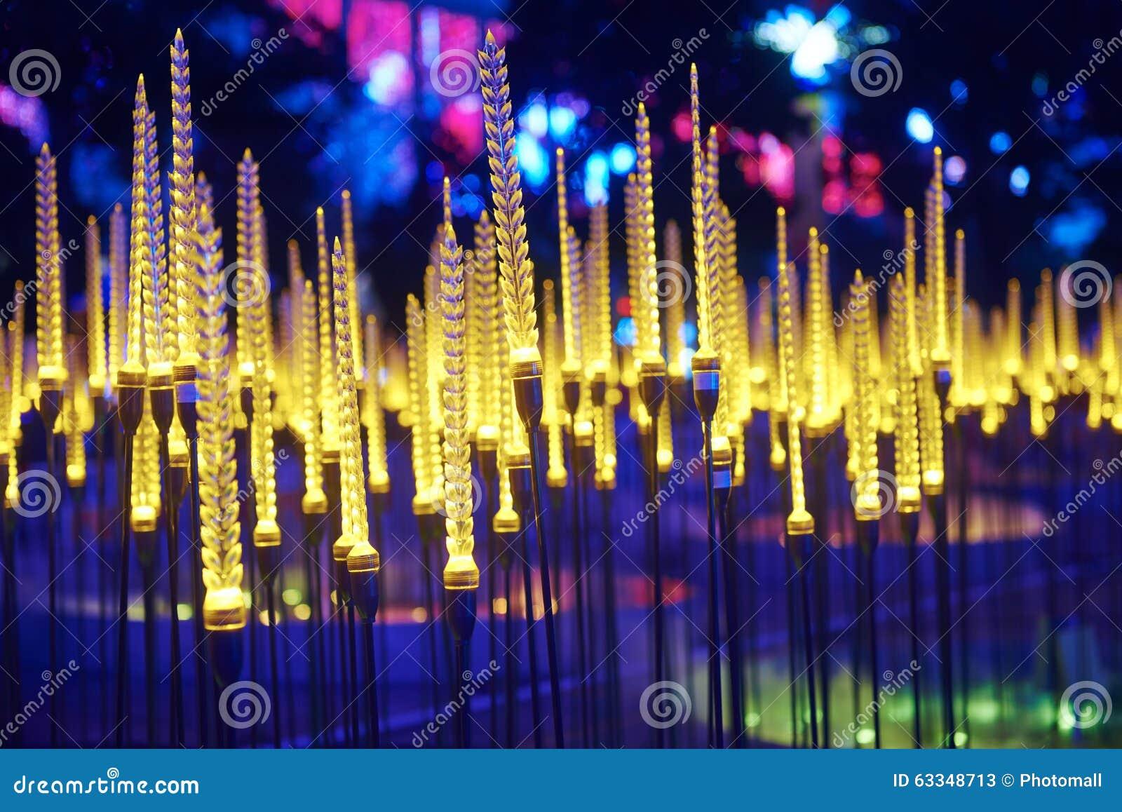 O trigo conduziu a iluminação