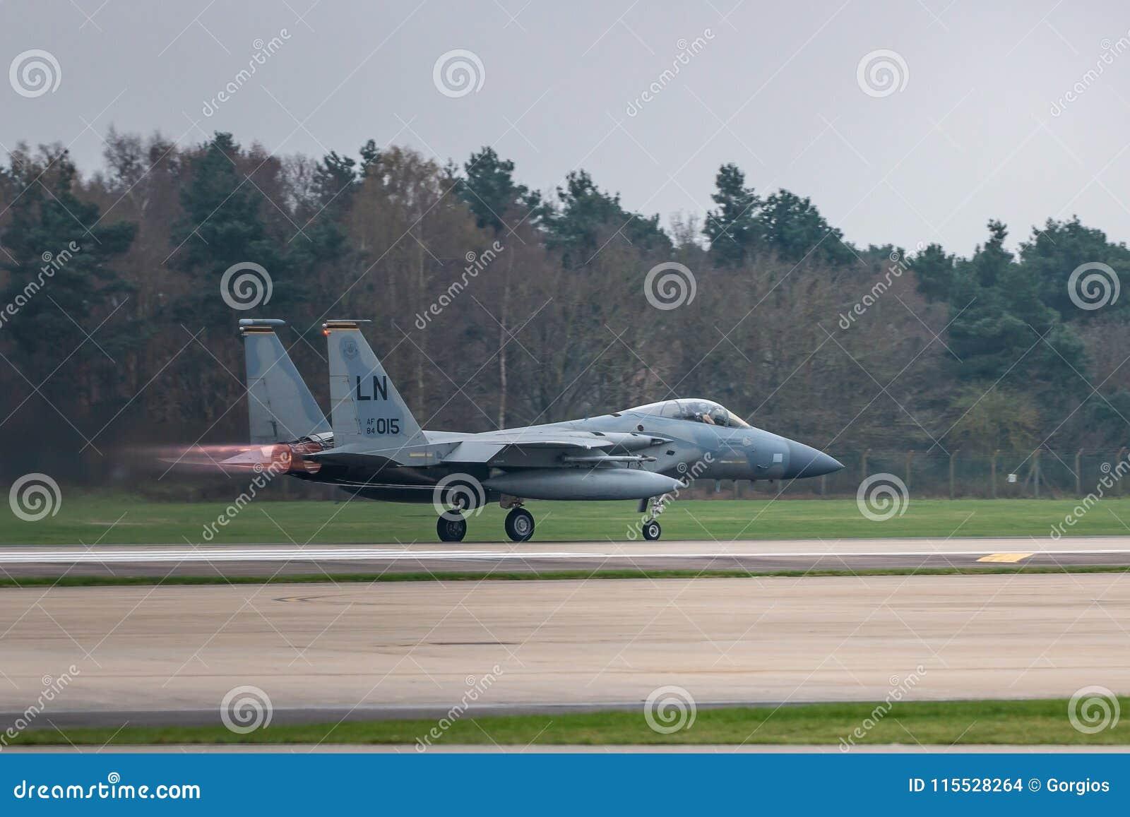 O U.S.A.F. de RAF Lakenheath F-15 jorra
