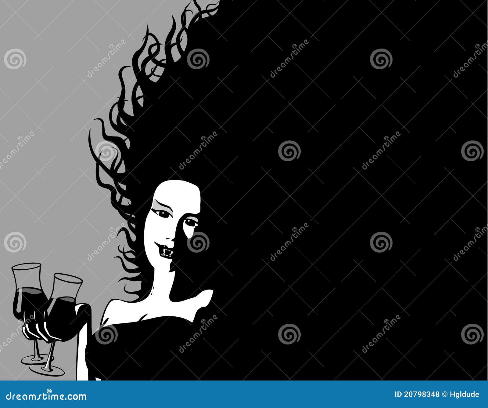 O vampiro do partido compartilha de uma bebida