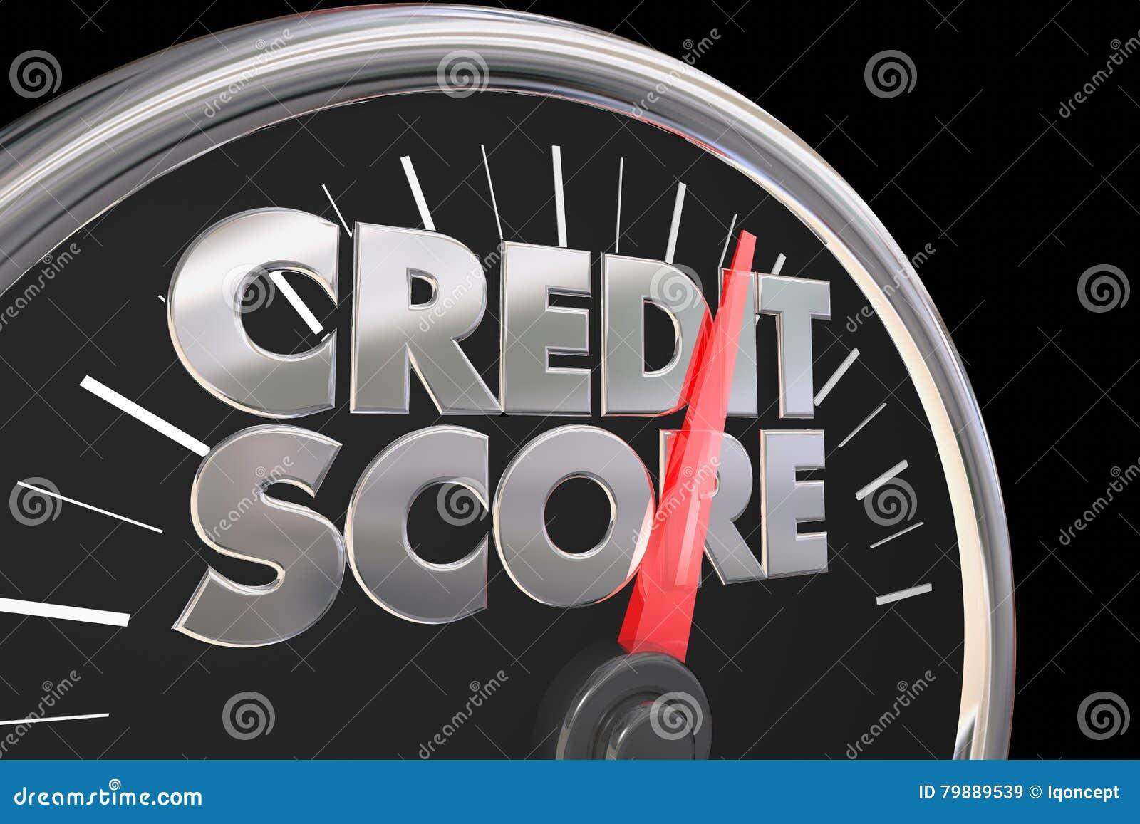 O velocímetro da pontuação de crédito melhor melhora o número da avaliação