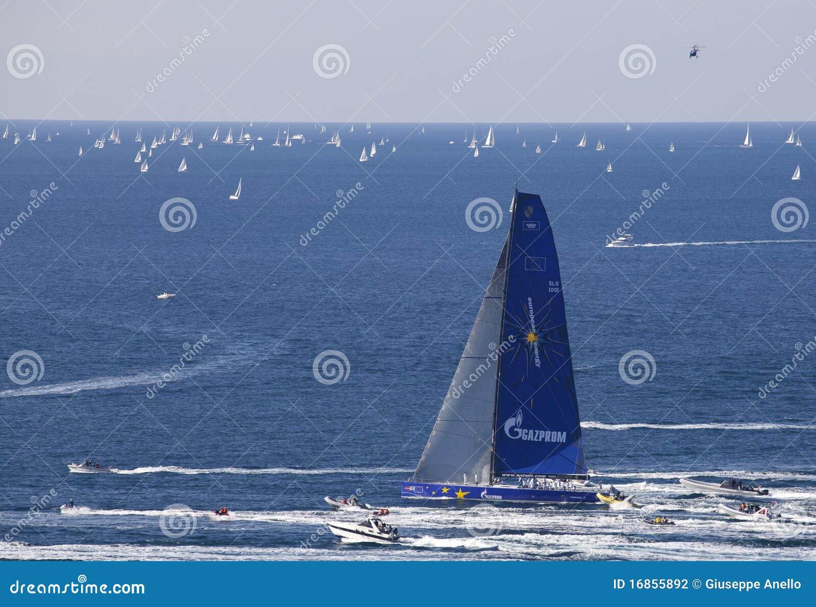 O vencedor do regatta 2010 de Barcolana