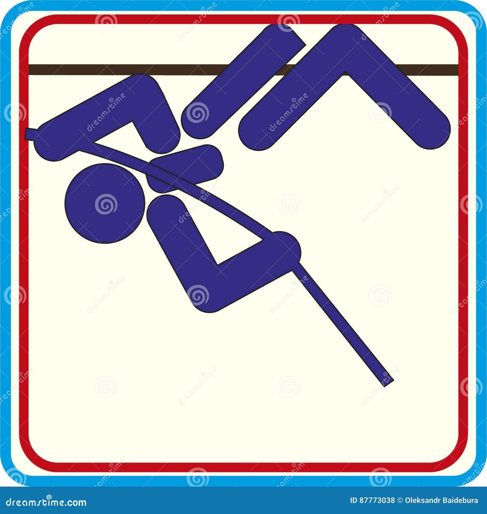 e1d35f73b O verão ostenta ícones - ícones do salto com vara. Mais ilustrações de stock  similares