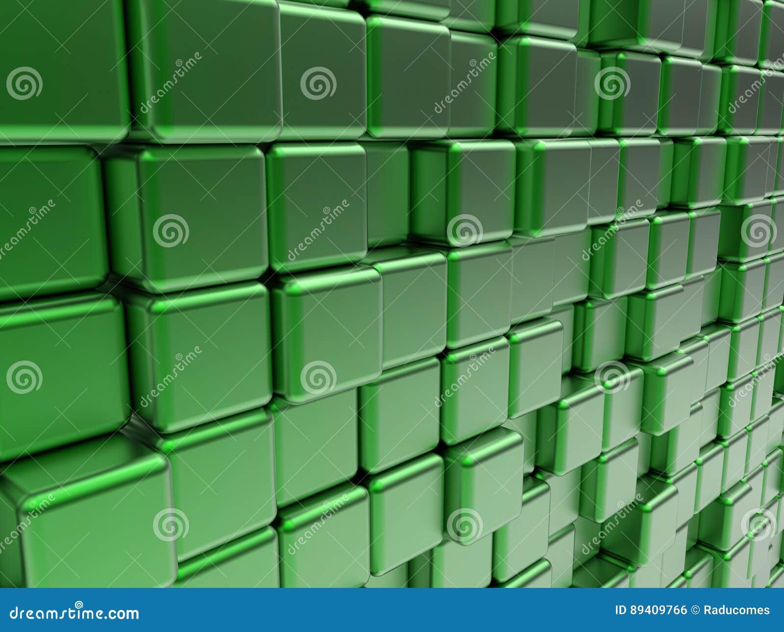 O verde cuba o papel de parede