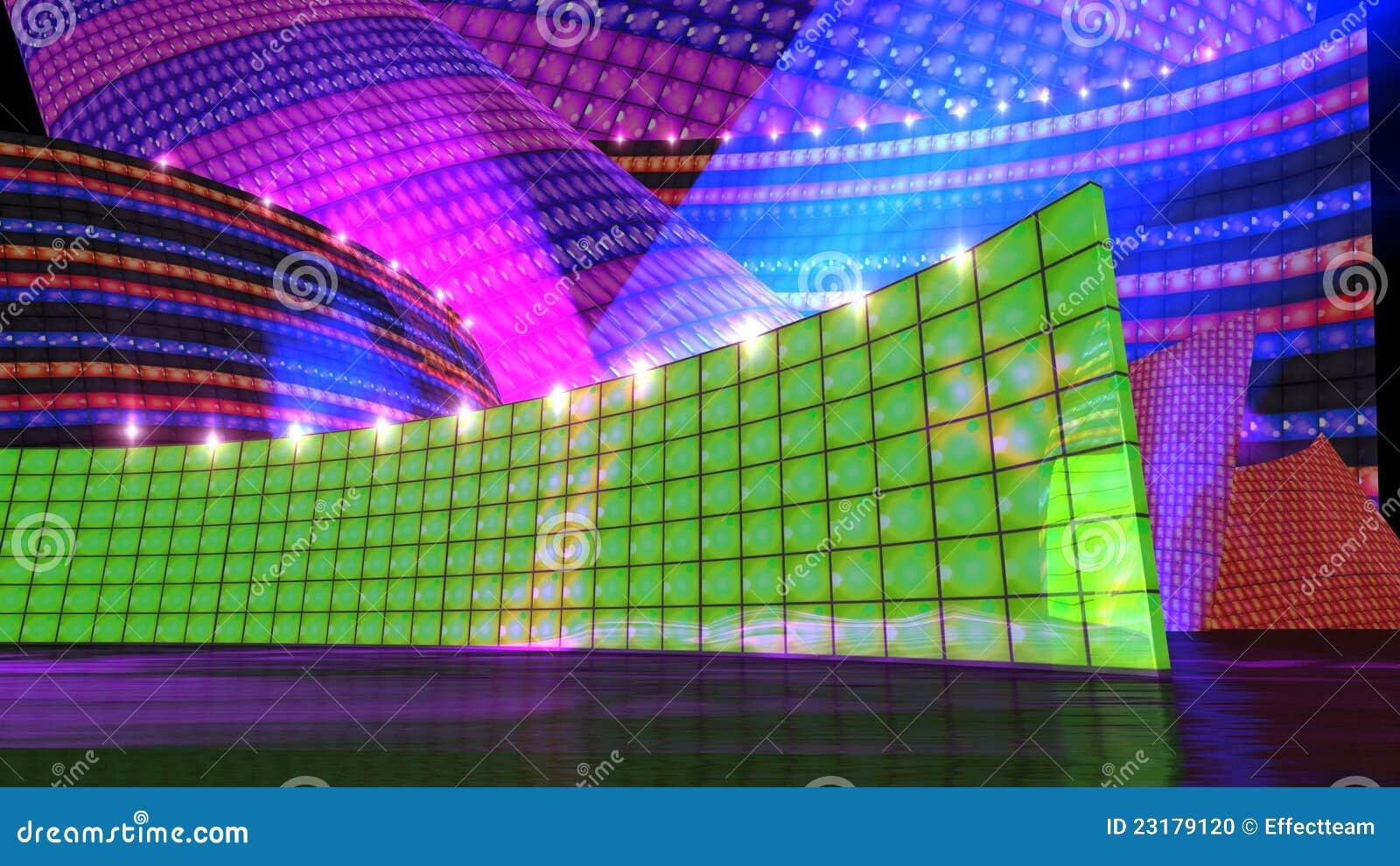 O verde do jogo de estágio do disco