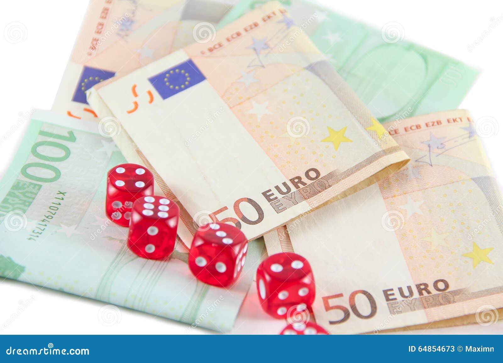 O vermelho corta e euro- dinheiro