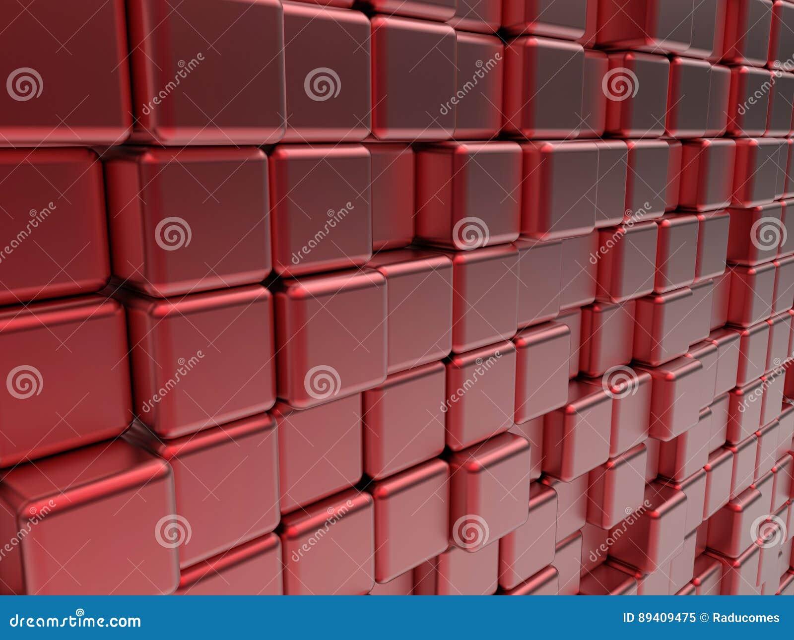 O vermelho cuba a bandeira abstrata