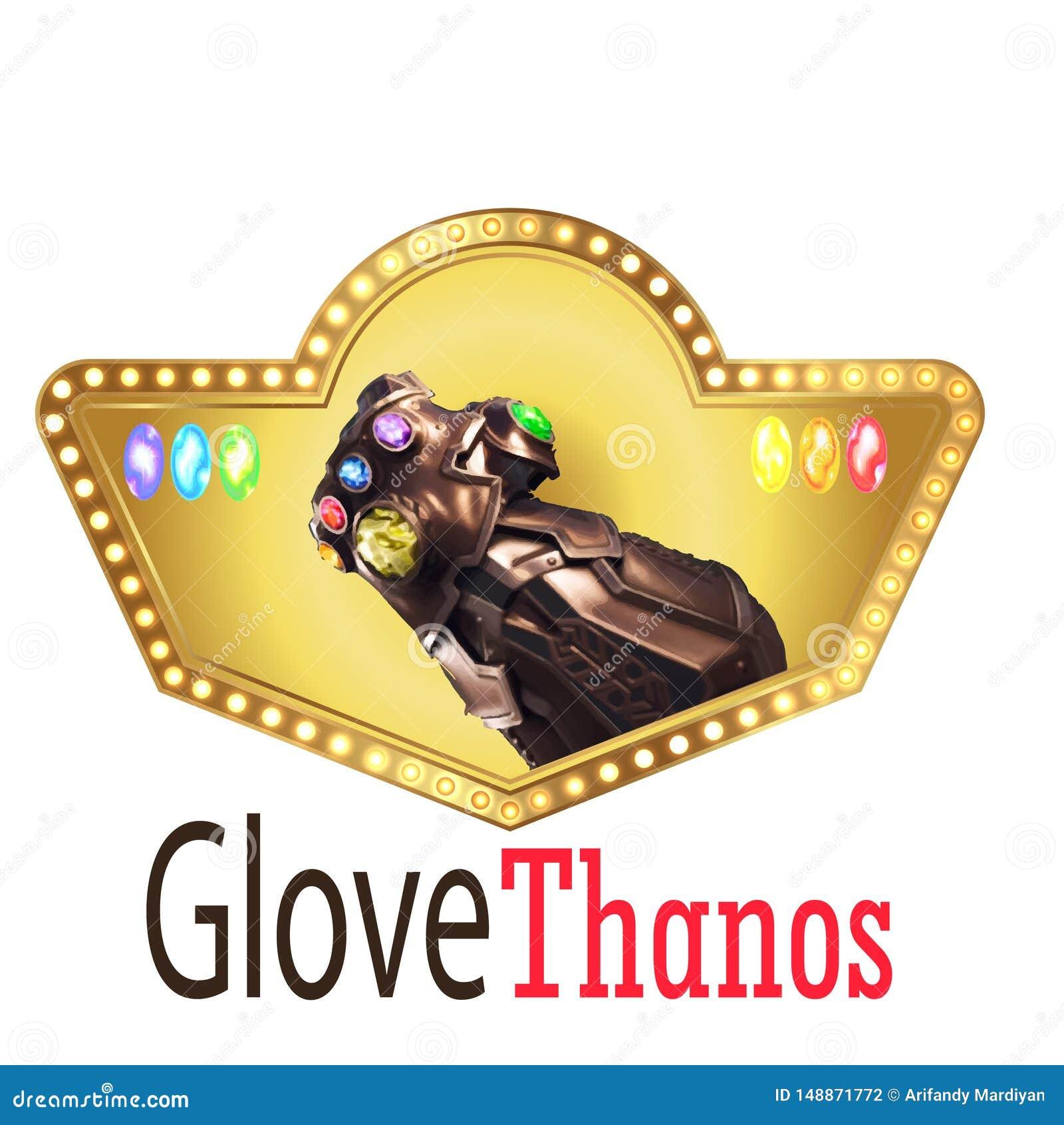 O vetor elegante do logotipo da m?o de Thanus