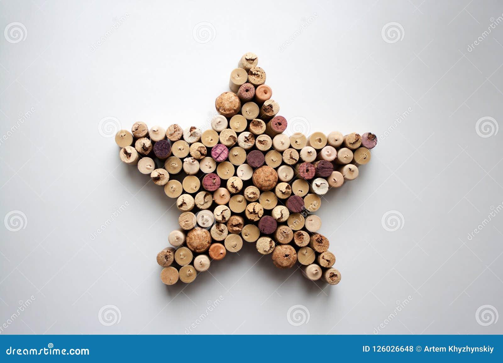 O vinho arrolha a composição dada forma estrela de cima de