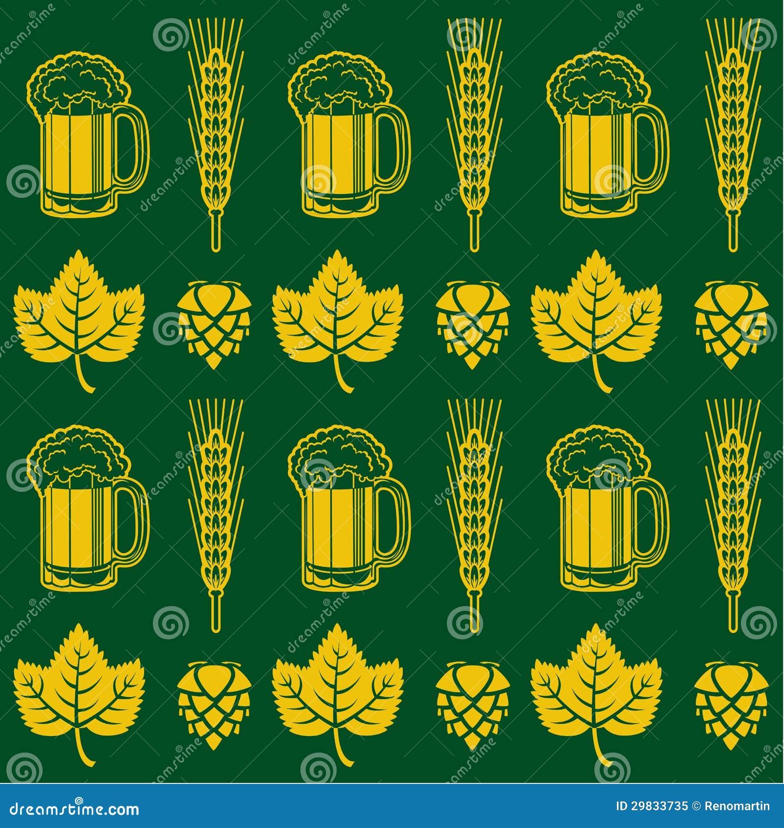 Teste padrão sem emenda da cerveja