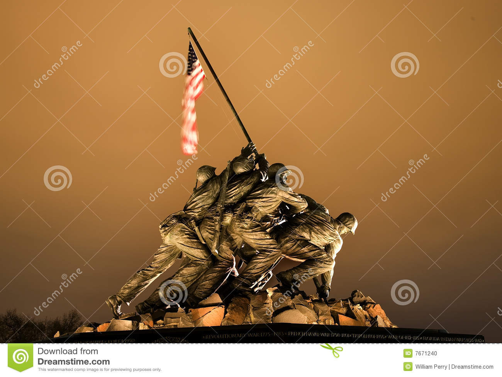 O Washington DC do memorial da guerra do Corpo dos Marines