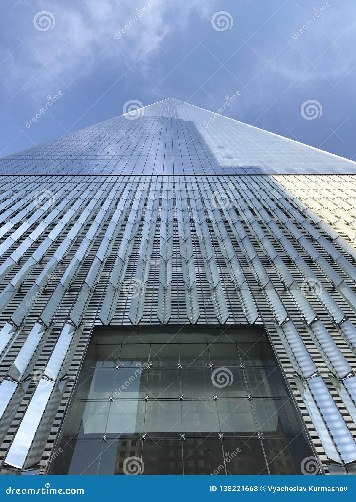 O World Trade Center olha acima