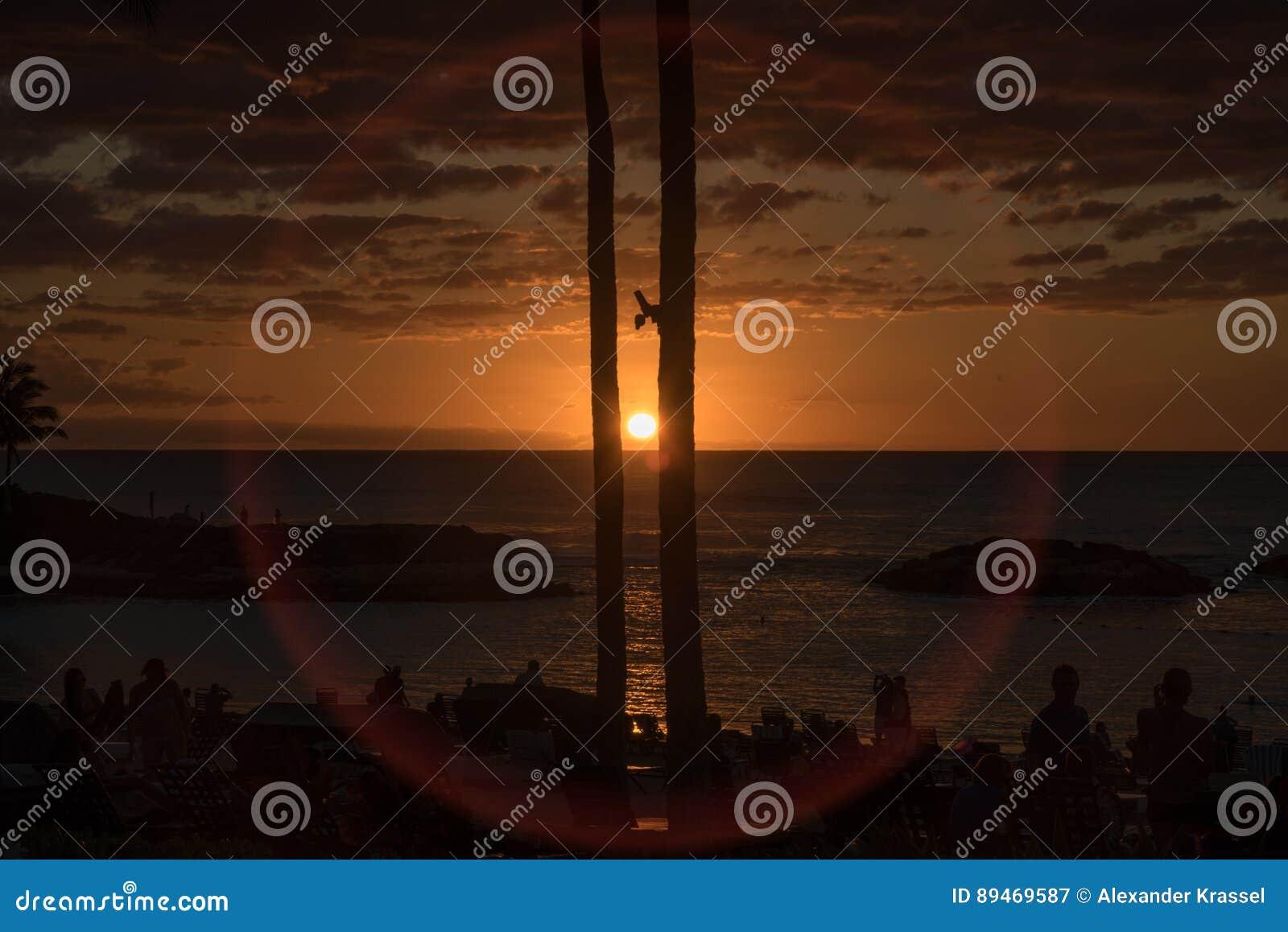 Oahu solnedgång