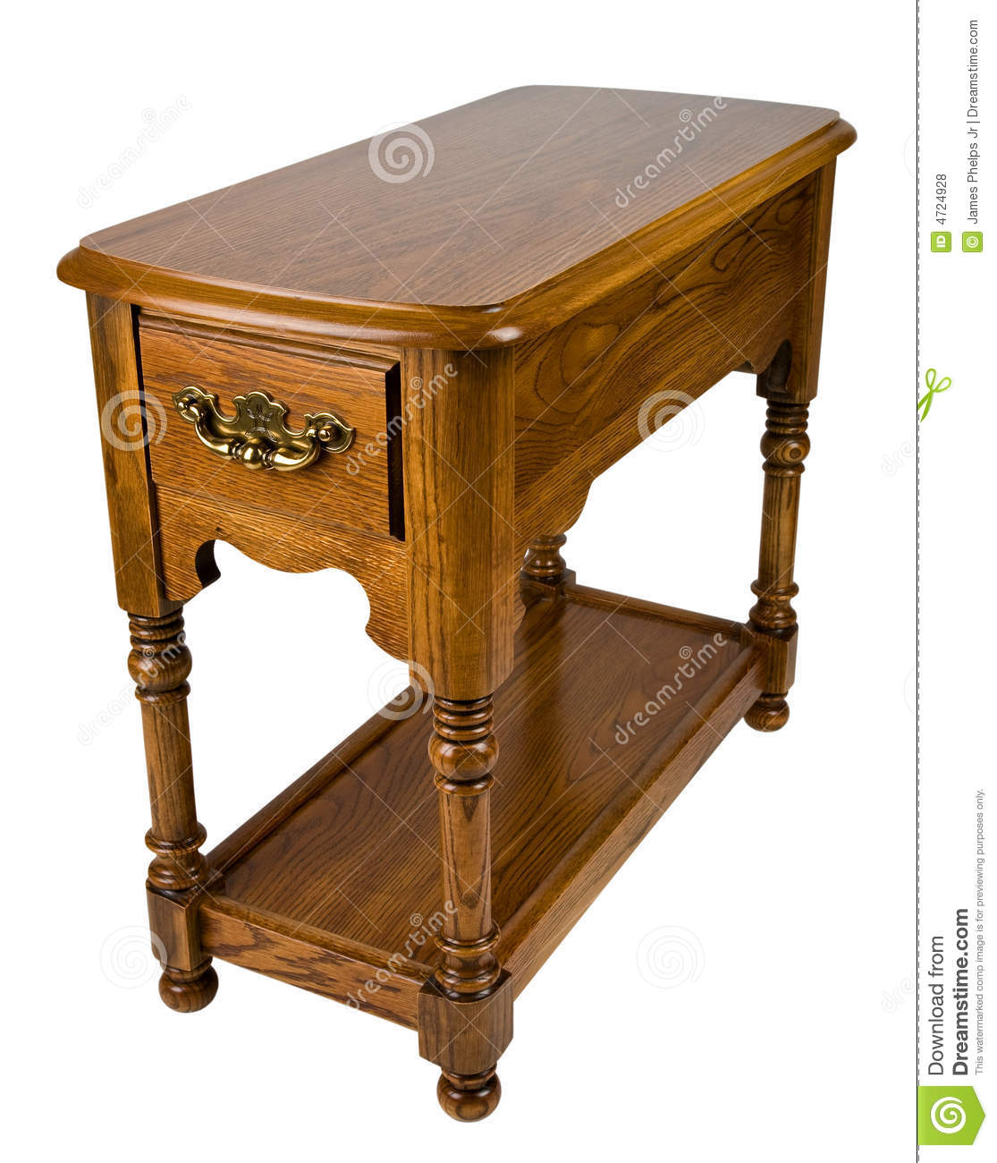 Wonderful image of Oak Chair Side End Table Royalty Free Stock Photos Image: 4724928 with #3C2008 color and 1115x1300 pixels