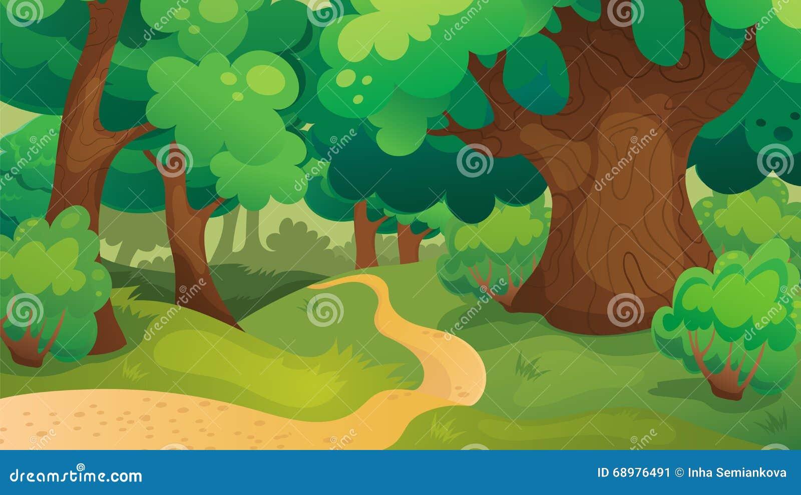 Oak Forest Game Background
