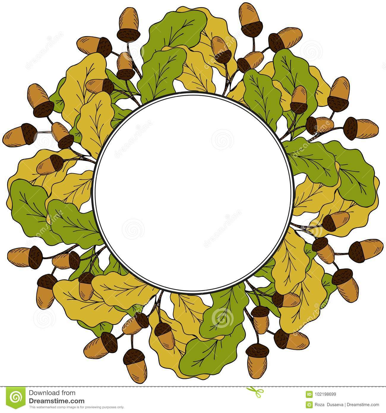 Acorn Leaf Colouring Pages Id | Clipart Panda - Free Clipart Images