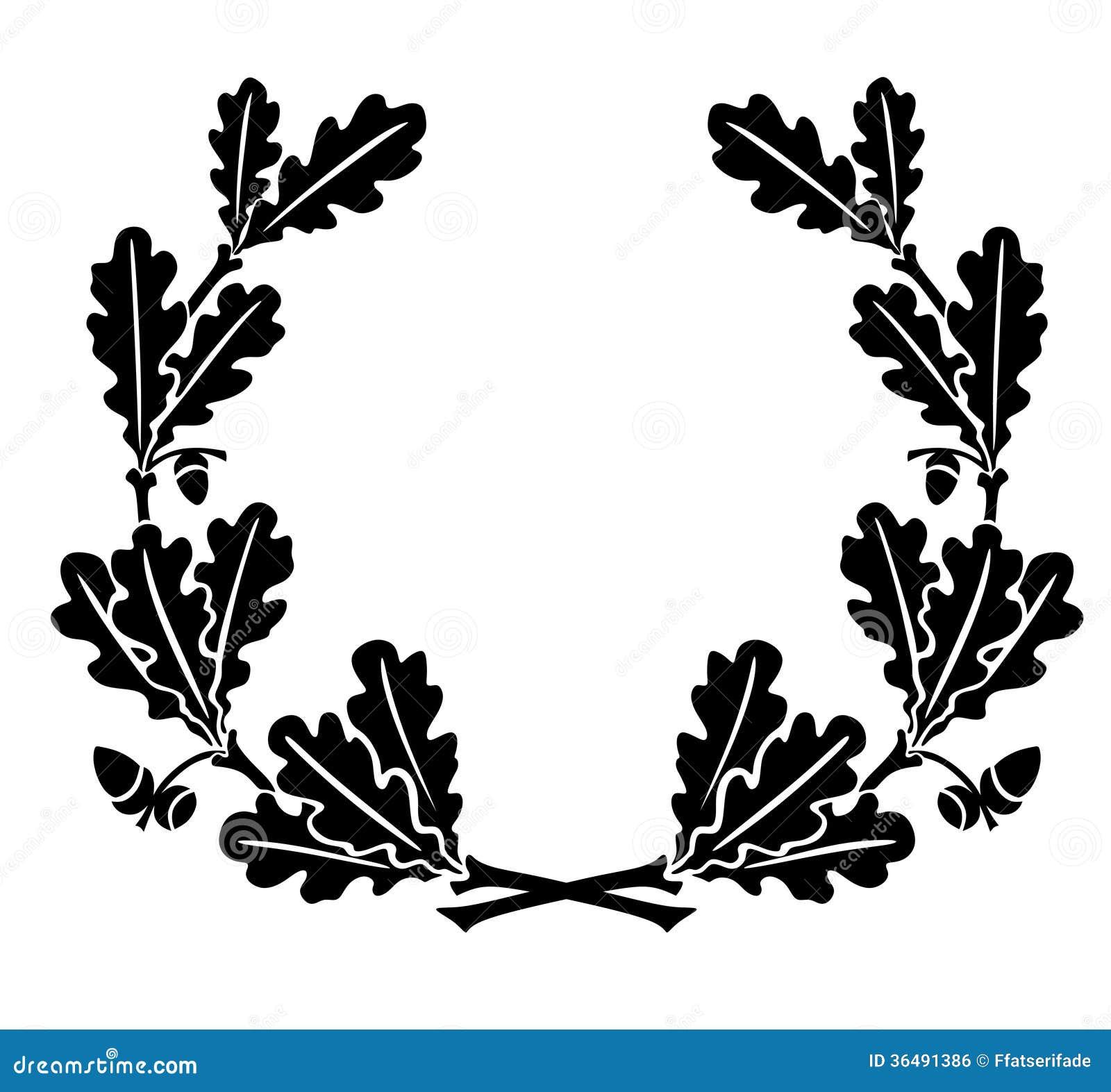 Oak leaves stock illustration. Illustration of winner ...