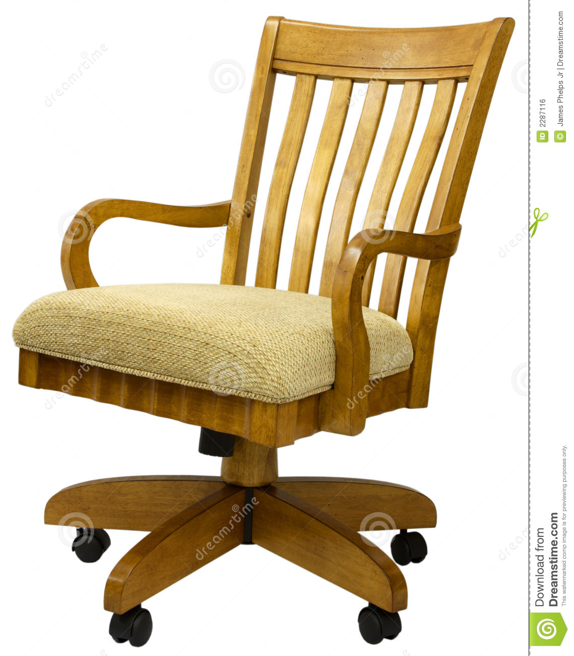 Oak Office Chair  sc 1 st  Dreamstime.com & Oak Office Chair stock photo. Image of chair design fabric - 2287116