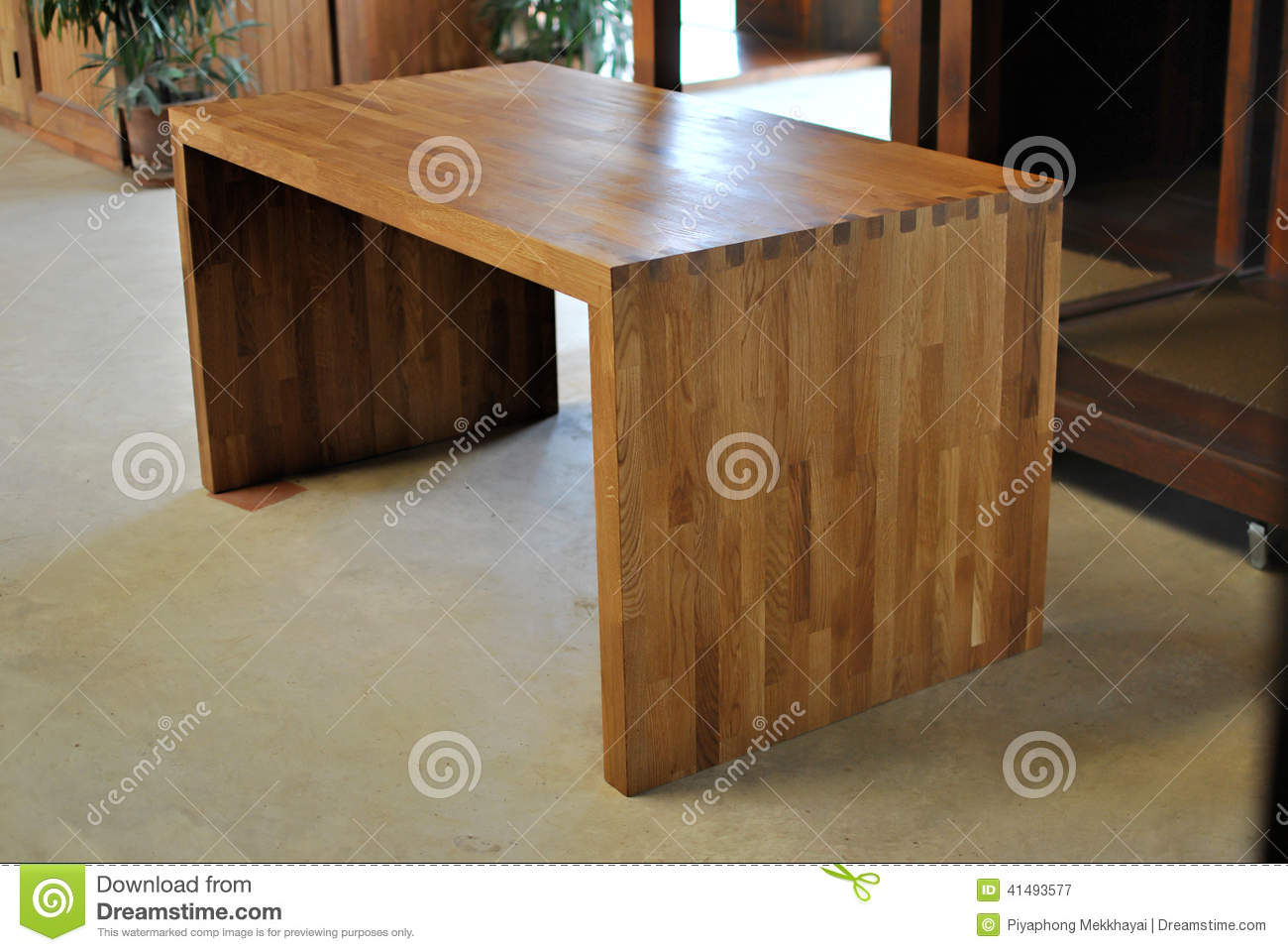 Oak Office Table On Oak Office Table Stock Image Image Of Table Finished 41493577