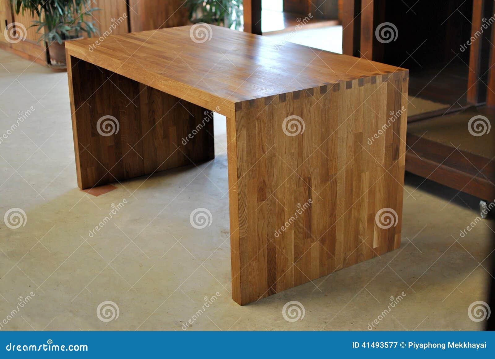 Oak Office Table Stock Photo Image 41493577