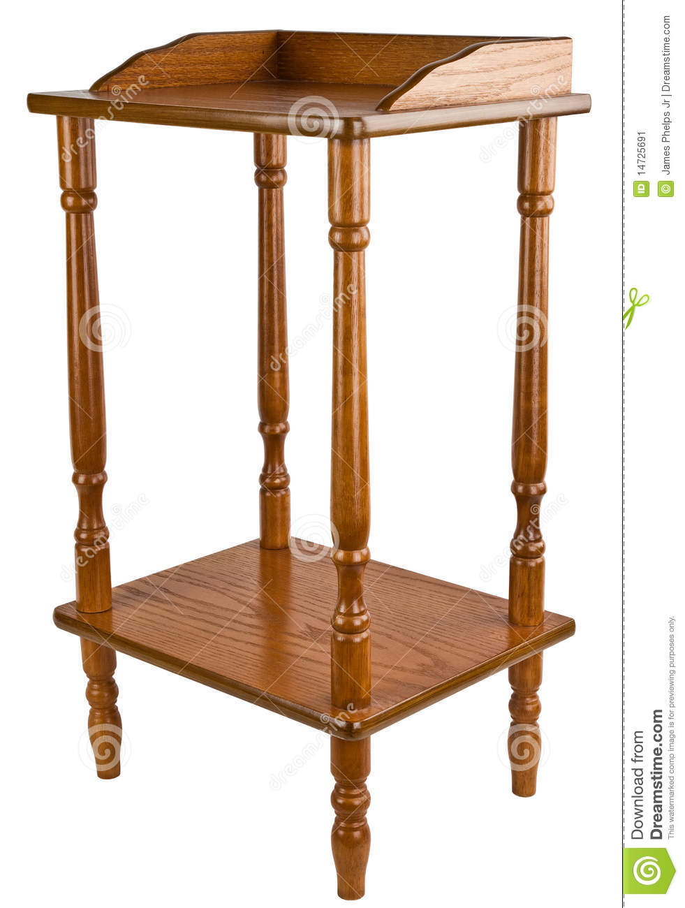 Royalty Free Stock Photo. Download Oak Telephone Stand Table ...