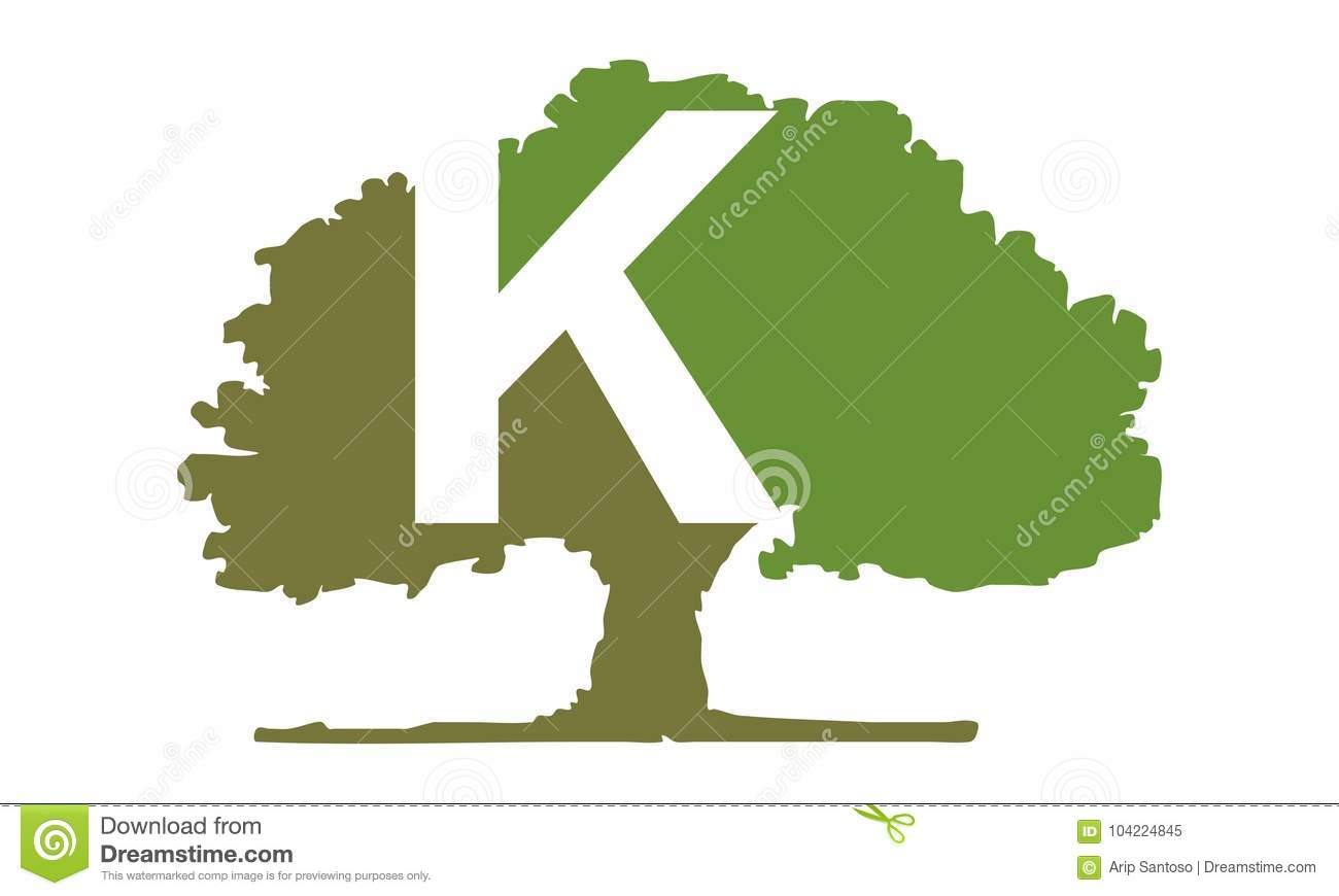 oak tree letter k stock vector illustration of green 104224845 rh dreamstime com oak tree logo free