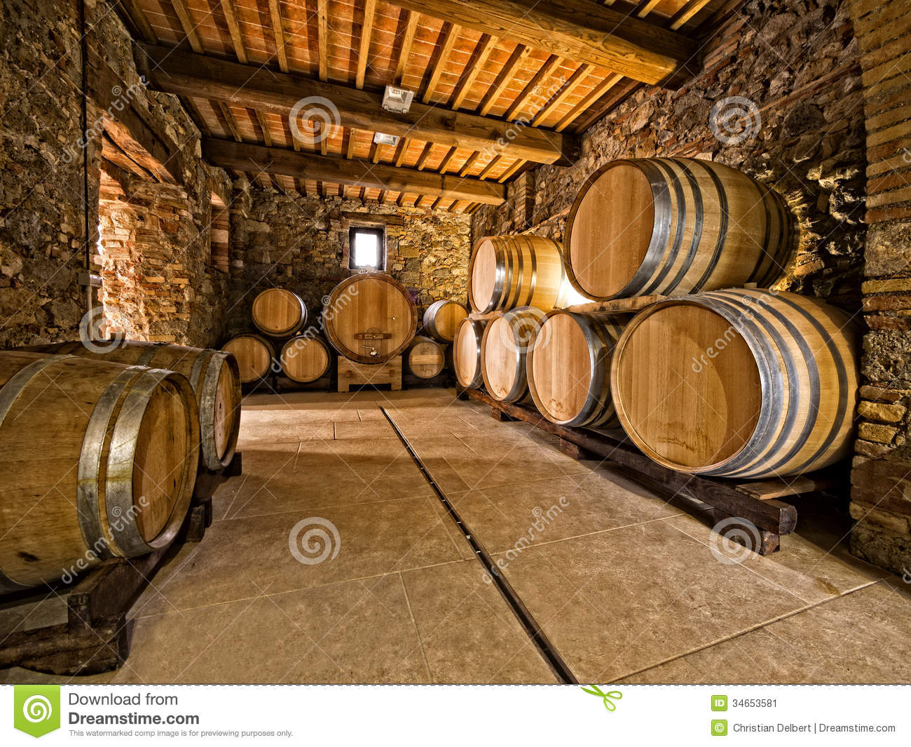 oak wine barrels stock image image 34653581. Black Bedroom Furniture Sets. Home Design Ideas