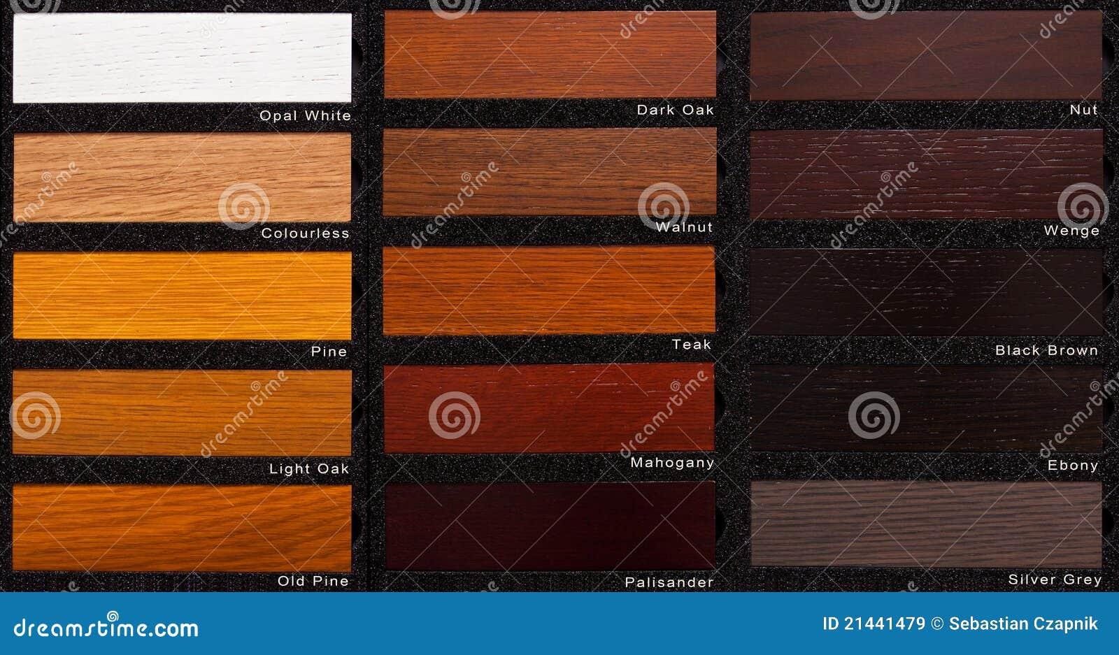 Oak wood samples royalty free stock images image 21441479 - Barniz para madera colores ...