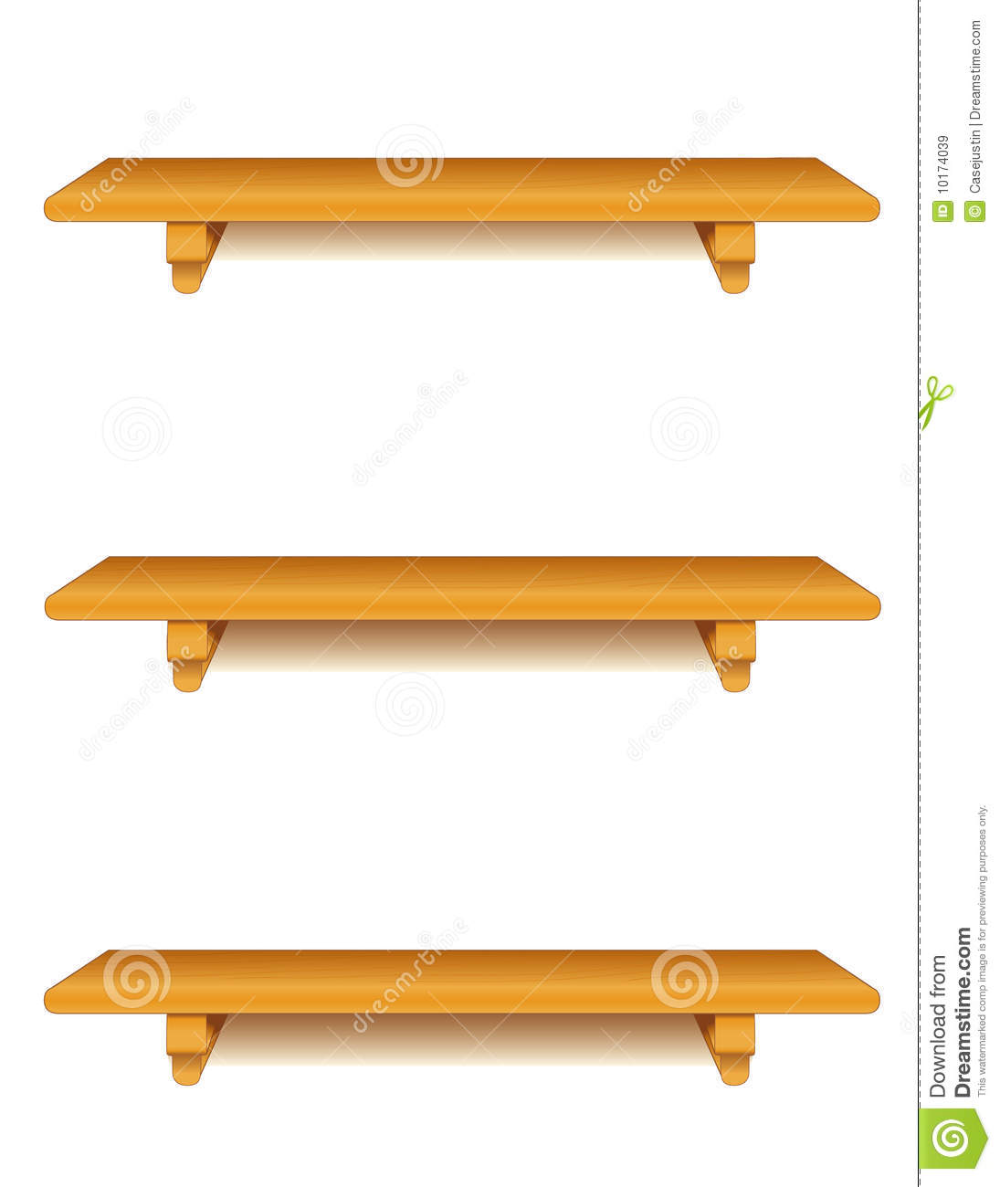 Oak Wood Shelves Royalty Free Stock Images - Image: 10174039