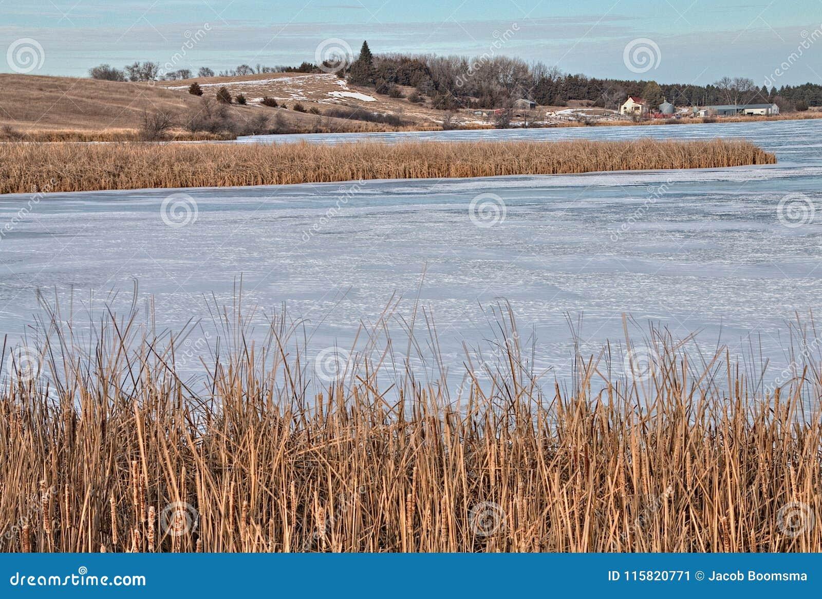 Oakwood sjödelstatsparken är i staten av South Dakota nära Brookings