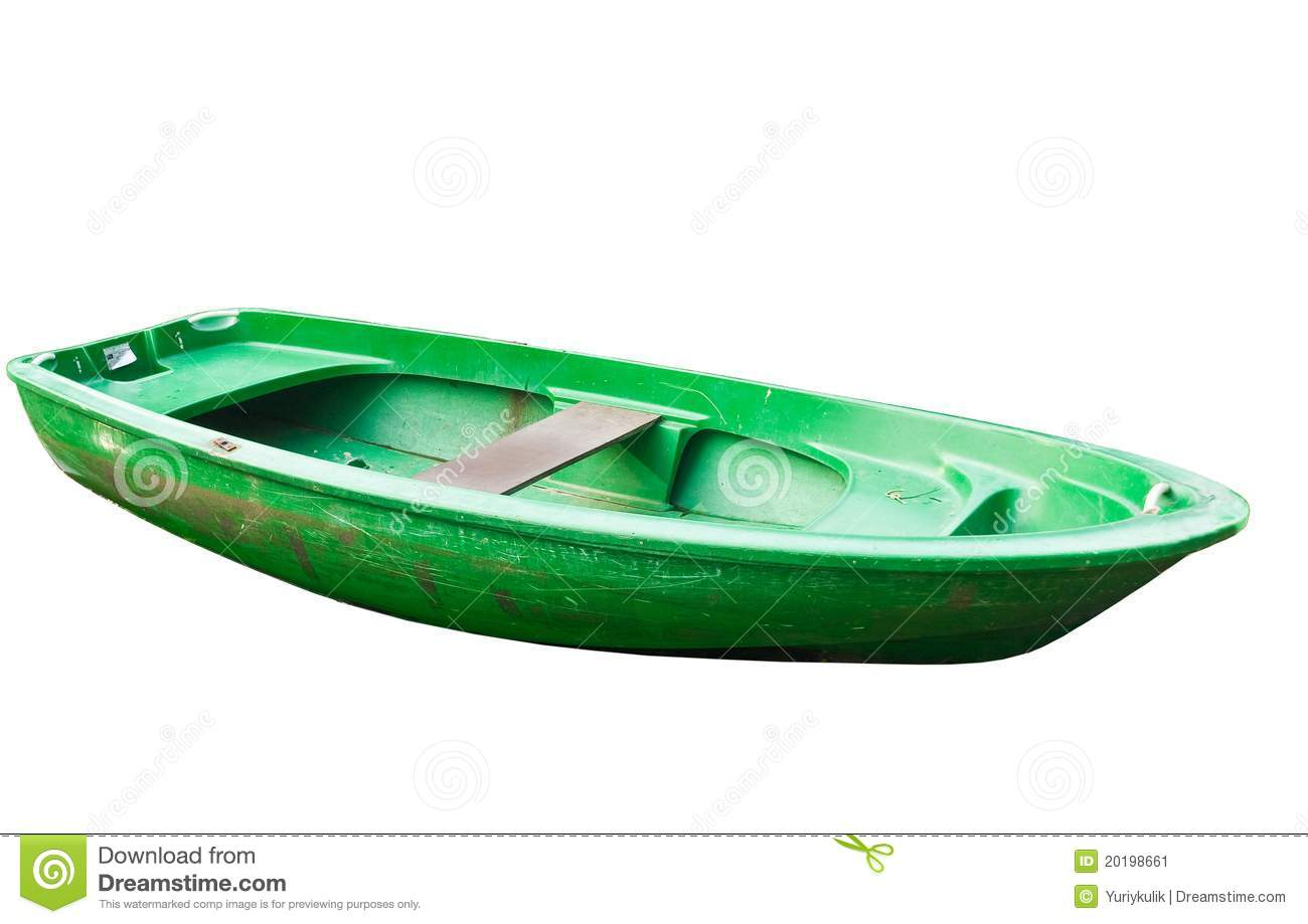 Oared Boat On A White Background Stock Image - Image: 20198661
