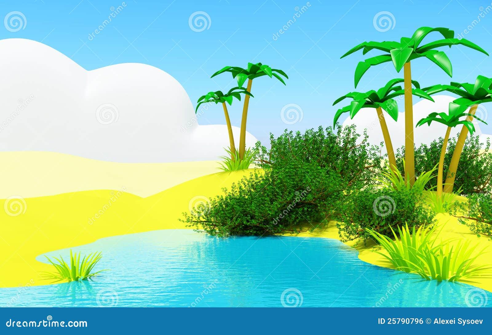 Oase mit einem Teich