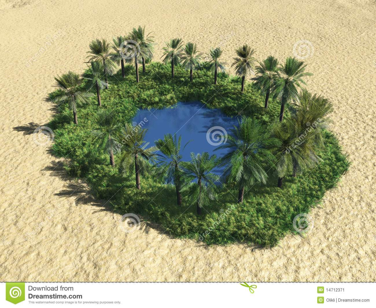 Oasis In The Desert Stock Image - Image: 14712371