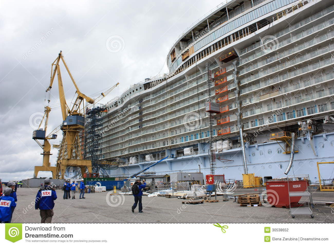 Oasis Of The Seas Construction Editorial Photography ... Oasis Of The Seas Construction