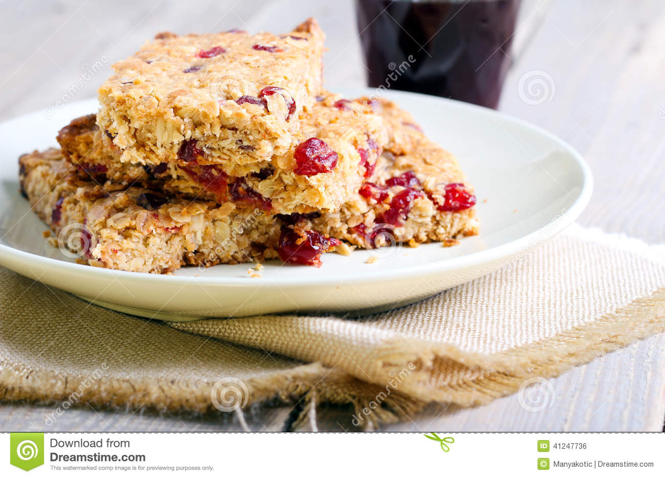 Oat and cranberry bars