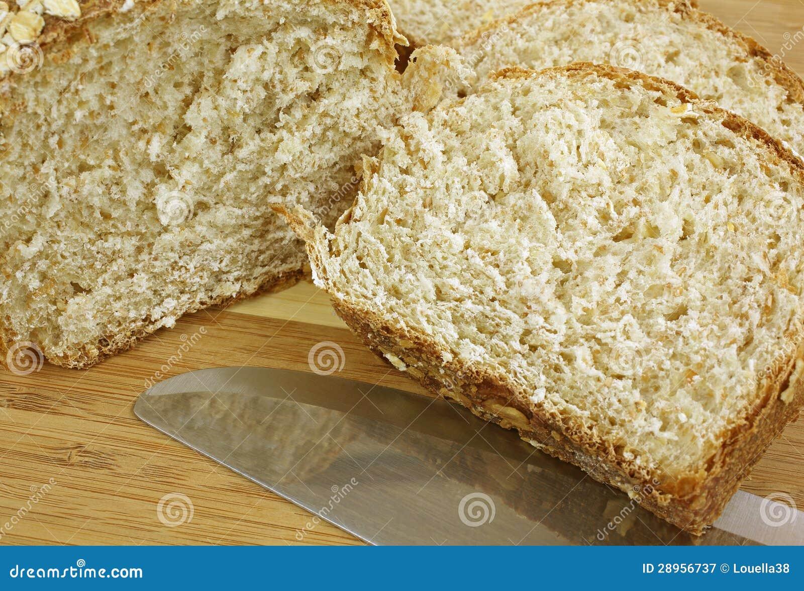 Oatmeal bochenka up Chlebowy zakończenie