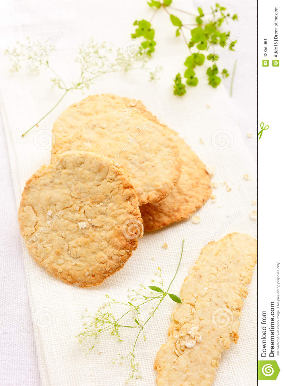 Oatmeal Crackers Stock Photo - Image: 42850061