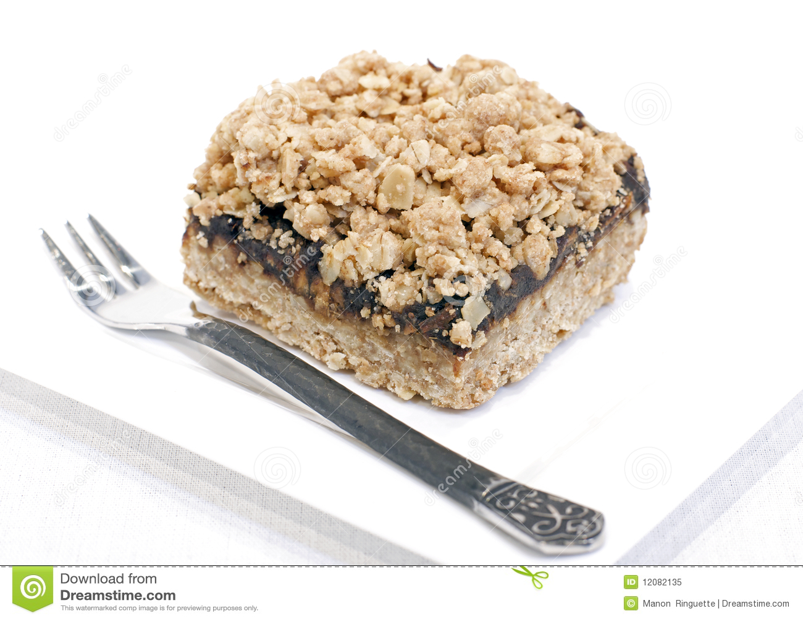 Oatmeal daktylowy kwadrat
