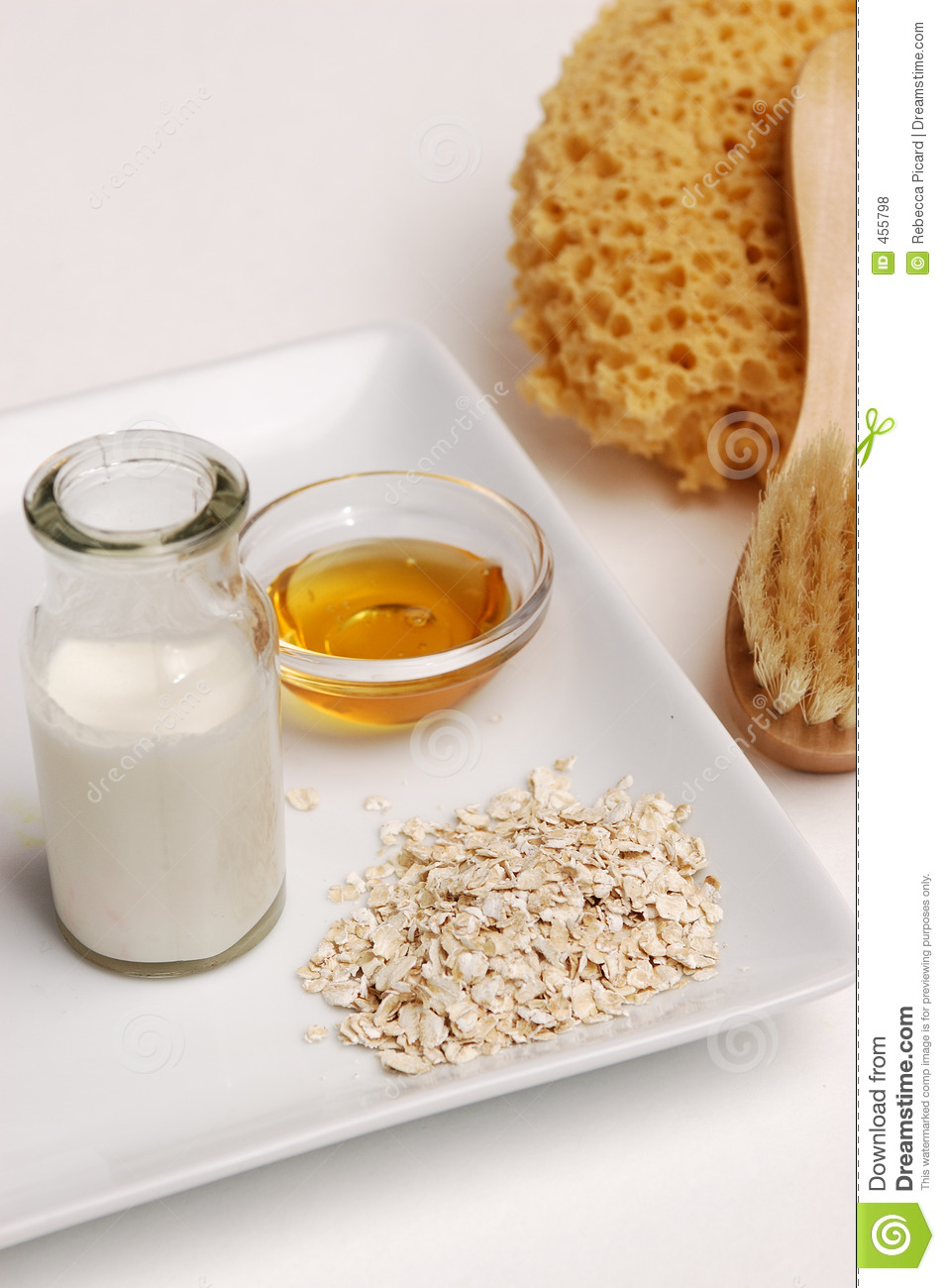 Oatmeal, Milk And Honey Royalty Free Stock Photos - Image: 455798
