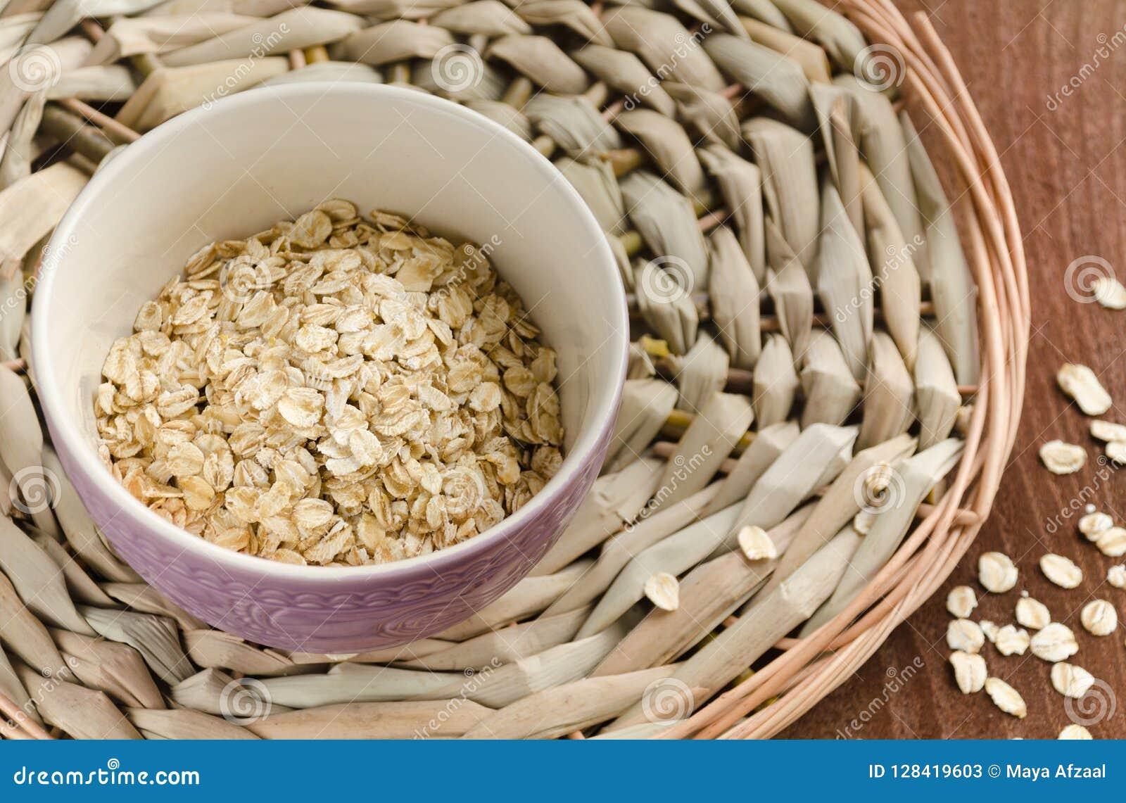 Oatmeal Muesli, grains Beau fond