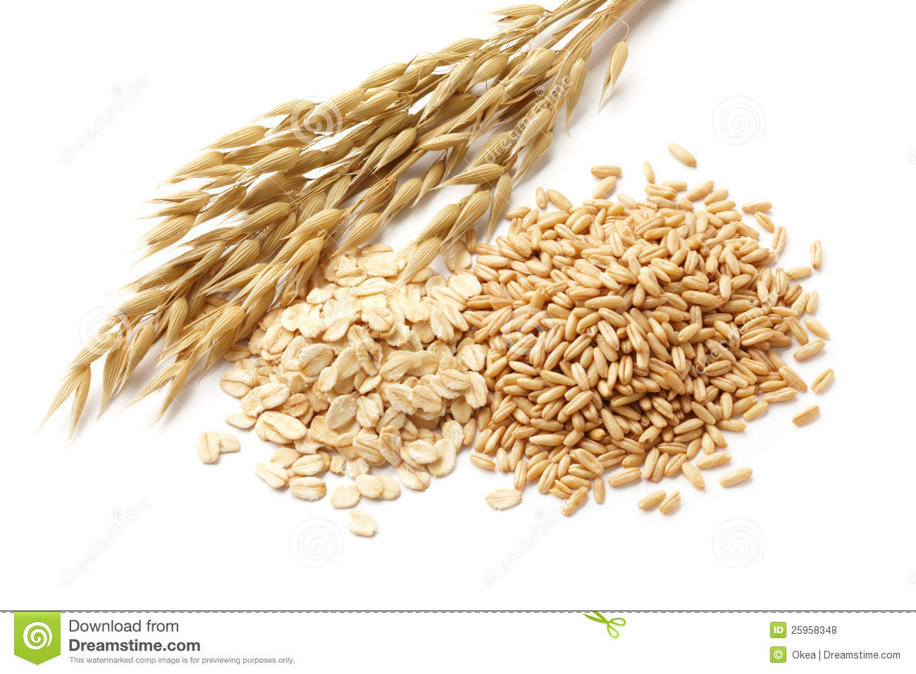 Oats With Grains Royalty Free Stock Photos - Image: 25958348