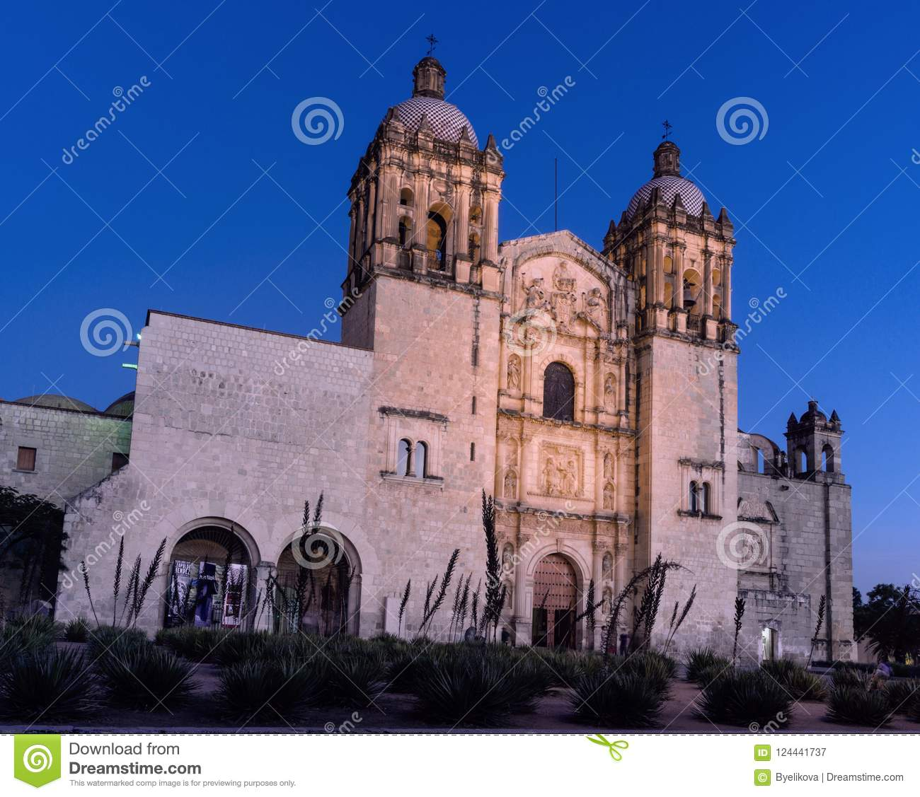 Church of Santo Domingo de Guzman. Oaxaca, Mexico