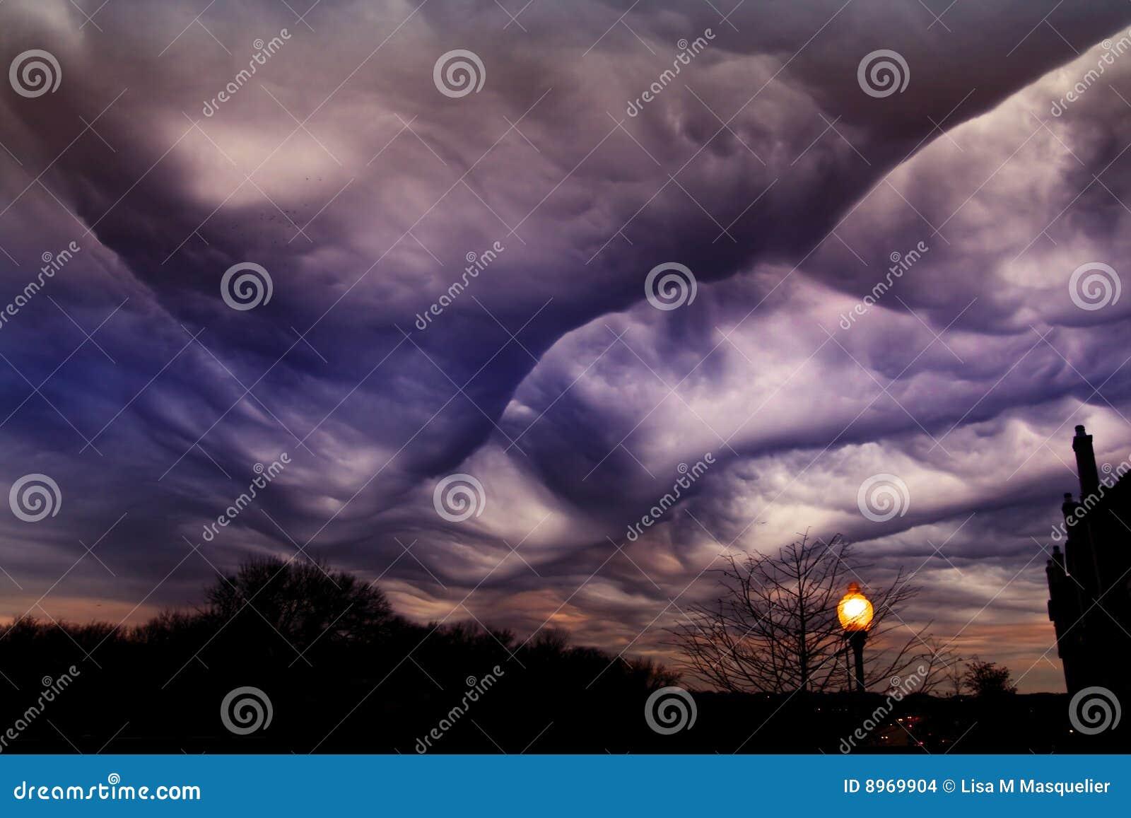 Obłocznego Dallas nowego nadmiernego nieba burzowy Texas typ